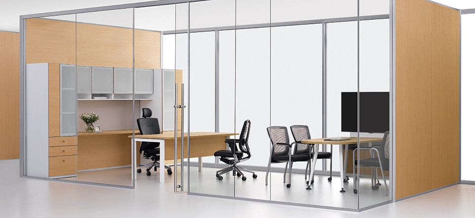 Exterior Office... Exterior Frameless Sliding Glass Doors