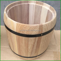 Home Decor Wood Coffee Barrel , Coffee Mug Shipping Barrel For Packaging