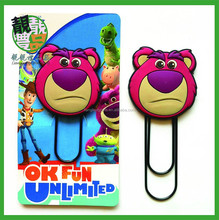 2015 china hot sale high quality 3d animal bookmarks/ pvc bookmark/ handmade bookmarks for sale