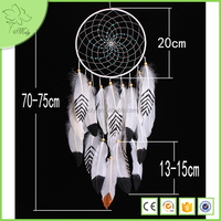 High quality white American Indian dream catcher, feather dream catcher