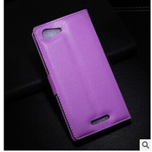 2015 hot sell flip cover mobile phone case for sony xperia e3