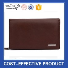 2015 best sale fashion men's genuine cowhide leather handbag men's long leather wallet