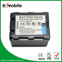 7.4V 1400mah Digital Power Camera Battery for Panasonic VW-VBN130 HDC-HS900 HDC-TM900 HDC-SD800