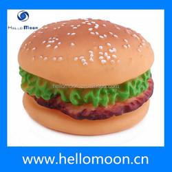 Best Sale Wholesale High Quality Eco-friendly Rubber Hamburger Dog Toys