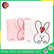 Pink Rabbit Shopping Paper Bag for Children