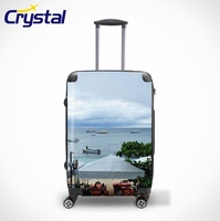 2015 Women Cabin Size Suitcase/Fashionable Hard Shell Airport Travel ABS PC Colorful Trolley Luggage Sets/Backpack/Bags
