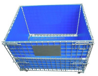 RH-C-U04 Collapsible Warehouse Cage With PP Hollow Sheet