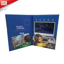 2014 Latest Marketing Solution Product LCD Video Brochure Card/ games 128mb video paper card, memory optional(256mb,512mb,4GB)