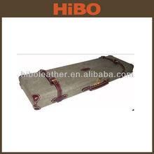 Trade Assurance canvas leather shotgun hard gun casee for side by side or over under shotgun