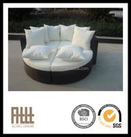 AWRF5125 rattan sectional outdoor furniture wicker sun lounger weatherproof patio bed lounge