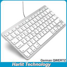 Best Price QWERTZ USB Wired Laptop Keyboard Ultra Slim USB Keyboard German QWERTZ Laptop Desktop USB Wired Keyboard