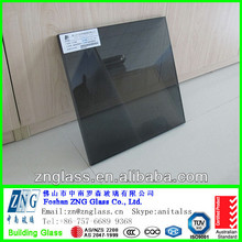 6+1.52PVB+6 13.52mm euro grey tinted color laminated tempered stained glass for large glass window