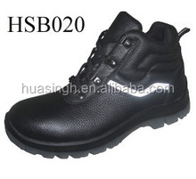 new worker brand injection construction classical style safety work boots with reflective strip