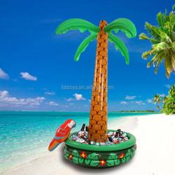 Custom palm tree inflatable cooler