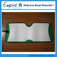 Foam simple white promotional windshield opaque spring sunshade