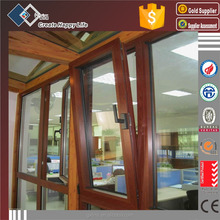 Hot products cheap double glazed thermal break house aluminium wood tilt and turn window for sale