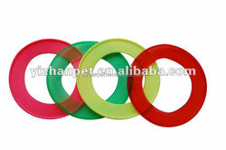 2015 Alibaba China hot wholesale pet products dog Outdoor Play Disc Toy,dog flyer,dog frisbee,colors vary