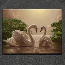 Animal knife oil paintings design of swan