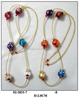 colorful glass brown small ball necklace