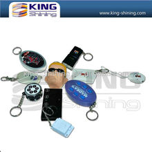 OEM personalized music led keychain/custom keychain for promotion gifts