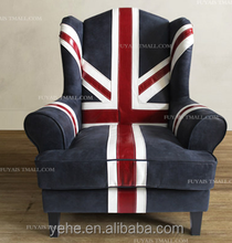 UK Flag chair luxury Italian sofas, imported genuine leather italy leather sofa living room chair, home designs, classic, YH226