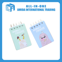 Korea stationery wholesale small animal series coil notepad pocket book