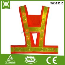 custom size lower price vest conspicuity warning reflective flash vest