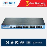 Layer 2+ ethernet router Switch with 16 SFP slots, and 8 Combo support 4 10G expansion ports ERPS RSTP MSTP supported