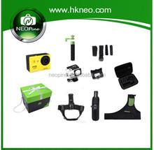 NEOpine Accessory Kit 8 in 1+monopod+action camera head strap +for go pro accessories +action camera free SA-8