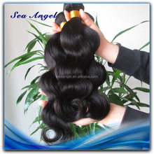 Natural Color 100% Unprocessed brazilian virgin remy hair weft