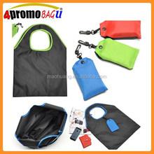 2015 China wholesale reusable waterproof nylon foldable shopping bag