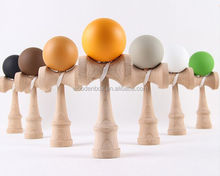 Sticky kendama with rubber paint tama for wholesale