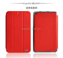 High quality leather flip tablet case for asus memo pad 8 me581cl