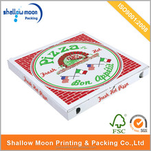 Square or round shaped fancy wholesale pizza boxes.