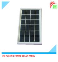 ABS Plastic frame 3 watt 6 volt solar panel