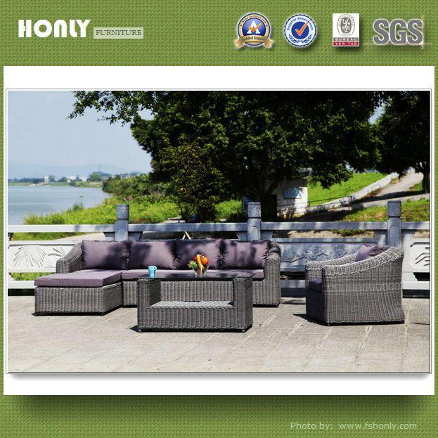 Leisure new design garden sofa set synthetic rattan leisure garden sofa set