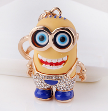 High Quality Despicable Me Minions Keychain 3 Dimensional Toy Key Holder