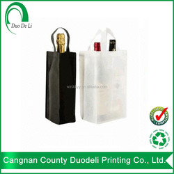 Low price recycle pp with hs code non woven wine bag custom design wholesales