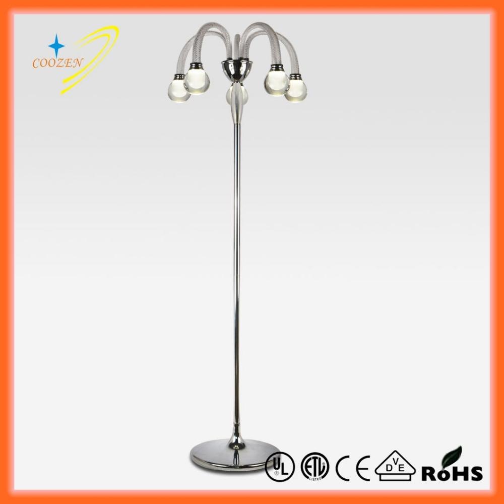 Gz30026 5f led portable floor lamp 5 light buy floor for Portable led floor lamp