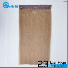 Private Label No Shedding No Tangle No Dry 100% Human Hair halo hair extensions wire