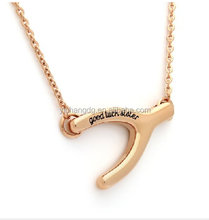 Sister Necklace Good Luck Sister Wishbone Necklace Lucky Bone Perfect Sister gift Necklace