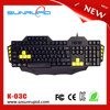 Wired usb standard gaming keyboard gamer keyboard with 5 Macro keys