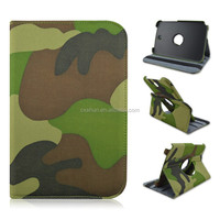 Camouflage Design Rotary Flip Stand PU Leather Tablet Cover Case For Samsung galaxy Note 8.0inch N5100 N5110