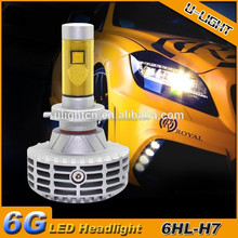 2015 NEWEST G6 car LED headlight H7 no fan all in one design with 6000LM 5 colors available DIY