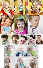 Stocks Infant toddler new born baby boy girl feeding star snap triangle bandana bib total 22 designs for choice (free sample)