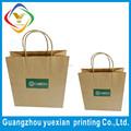 Fabricación de China de encargo de la comida grado de papel kraft bolsa para panadería