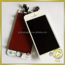 Cheap factory price spare parts for iphone front lens,for iphone 5 LCD test, for apple iphone 5 LCD