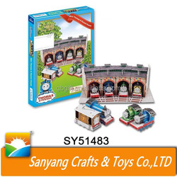 Cartoon toys educational 3D thomas train model paper puzzle