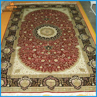 152x244cm magnificent red and beige hand knotted turkish carpets