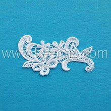 2012 fashion neckline flower polyester fabric patch WLS-289